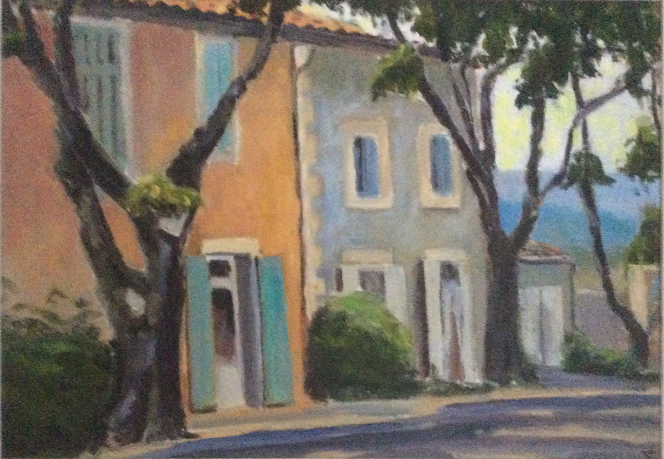 Village houses in Provence oil 41x29