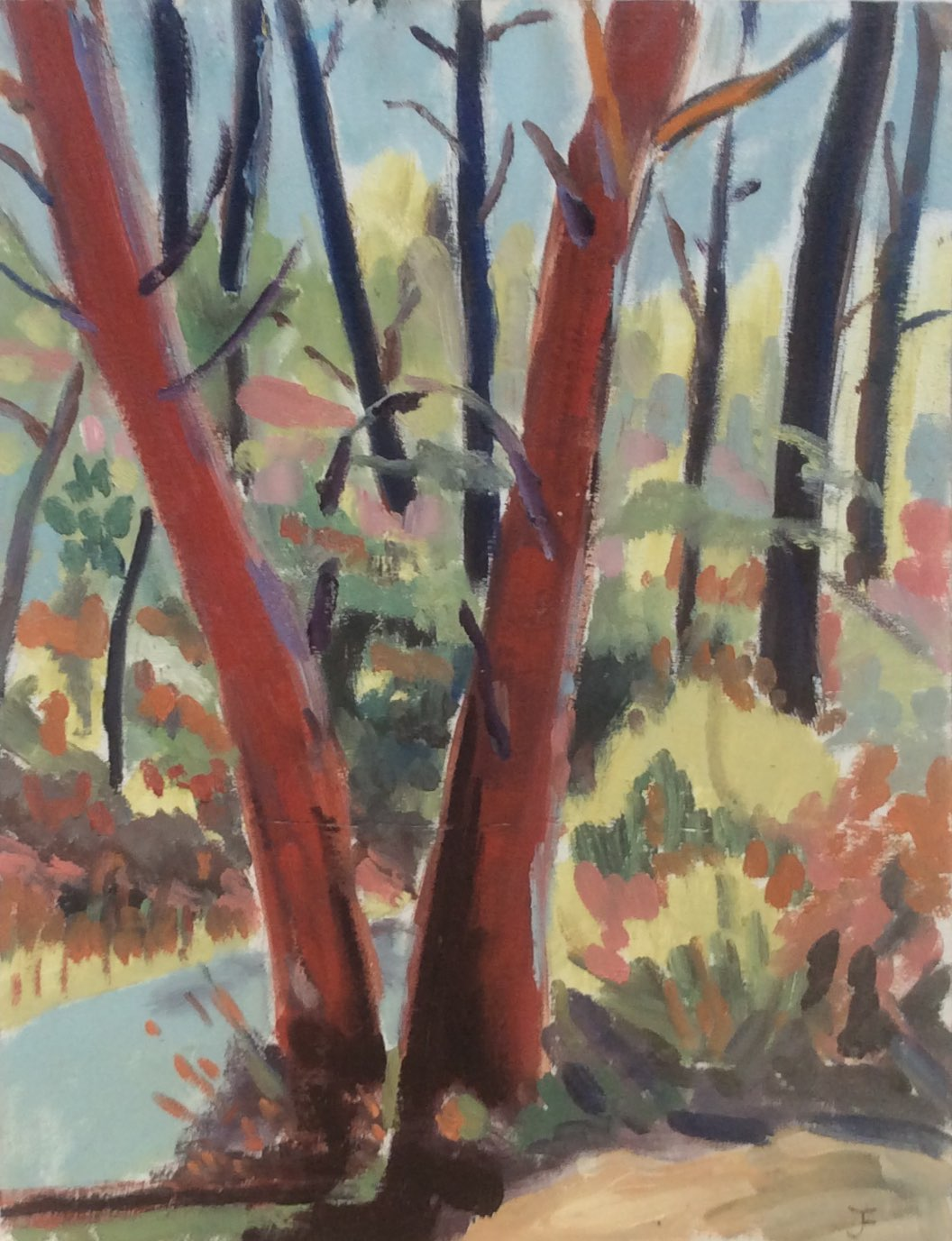 Ochre woods 1 oil 30x40