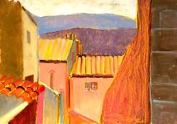 French mountain village 2 oil 42x30