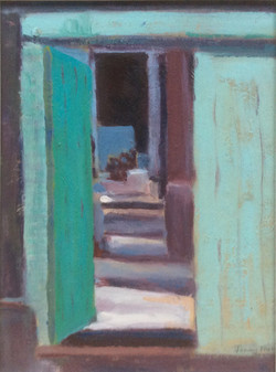 Doorway in Samarkand oil 38x26