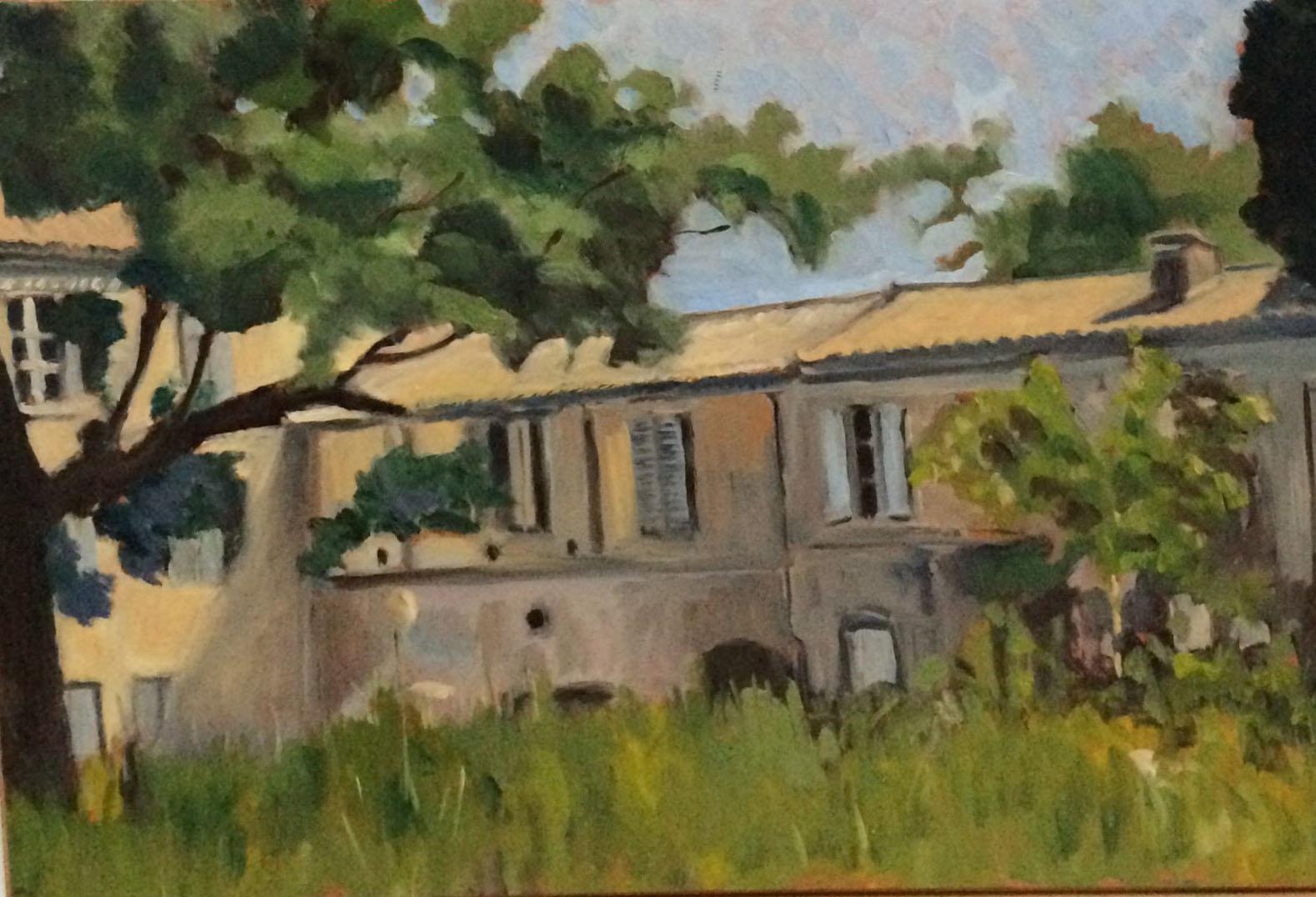 Chateaux de Margave oil 41.5x29