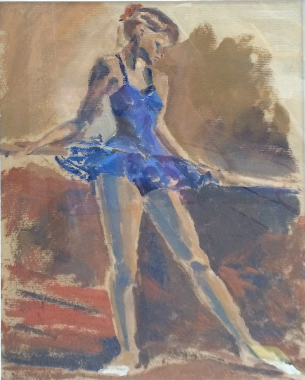 The ballet dancer oil 38.5x51