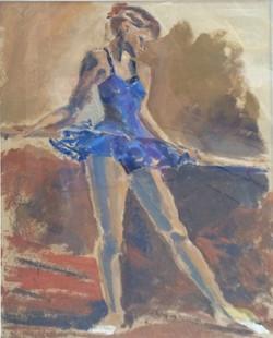 The ballet dancer oil 38.5x51