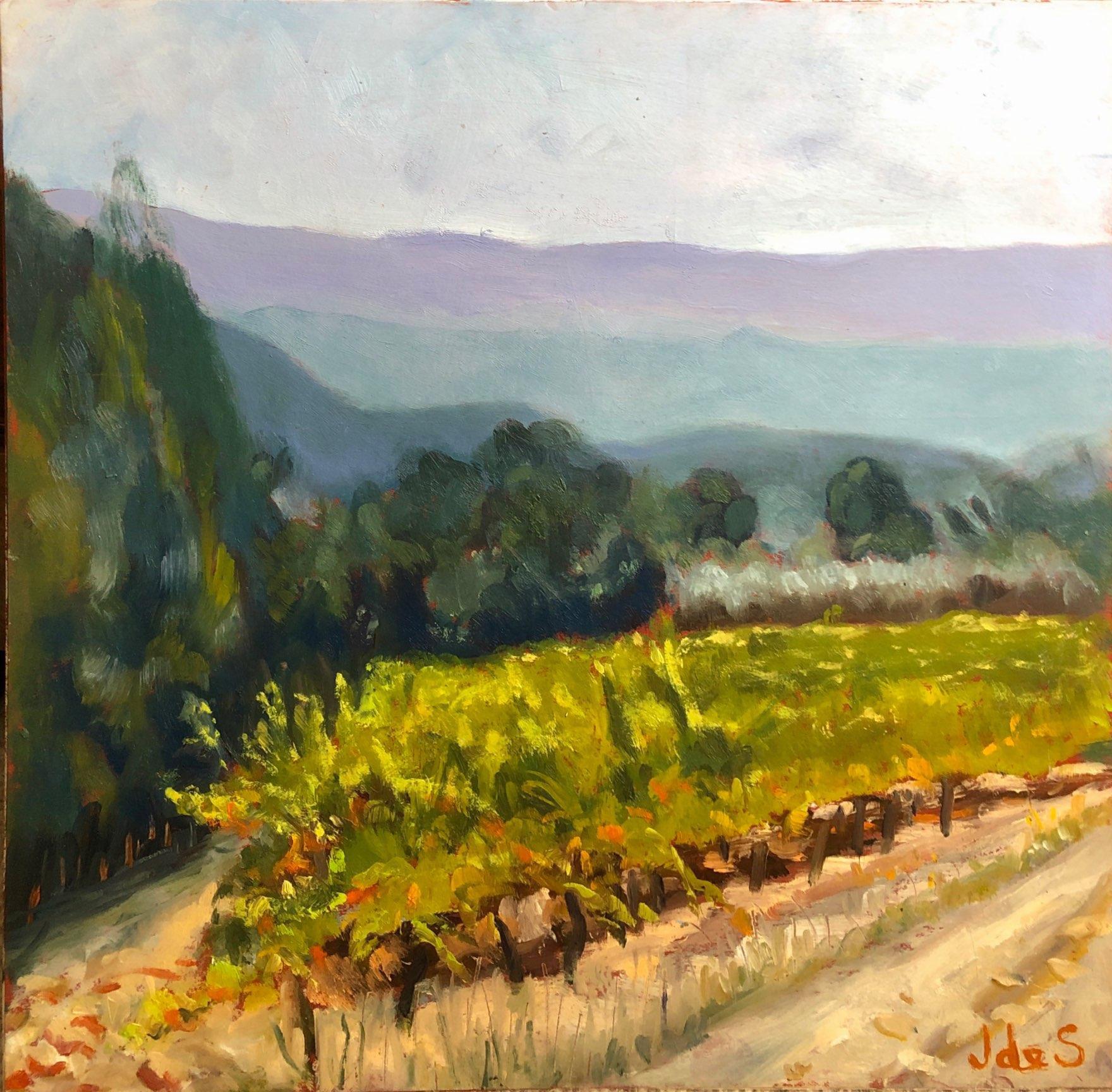 Vineyard in Provence 1 32x31 oil
