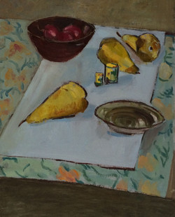 Still life with pears oil 39.5x49.5