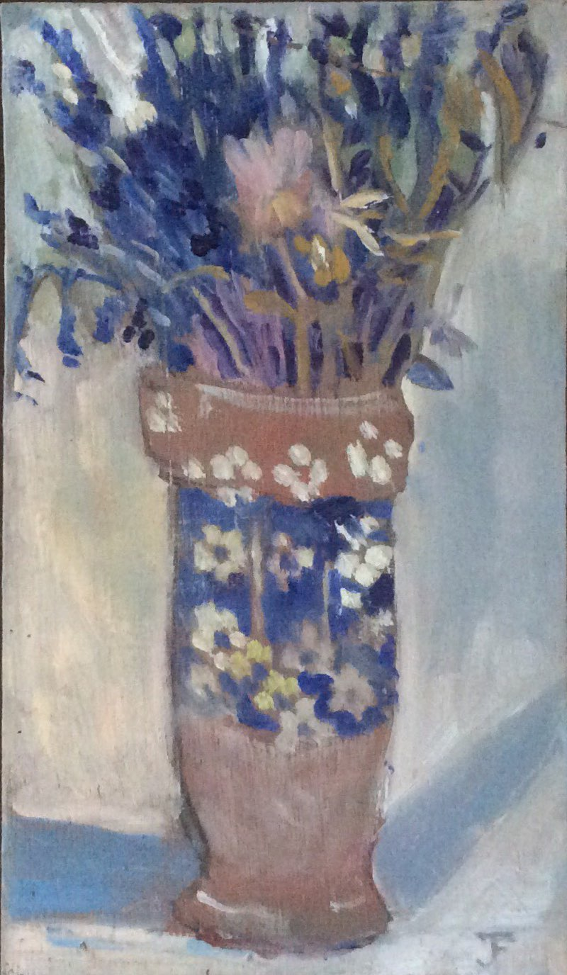 The blue vase oil 17x28