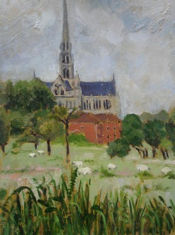 Salisbury Cathedral Oil 30x40