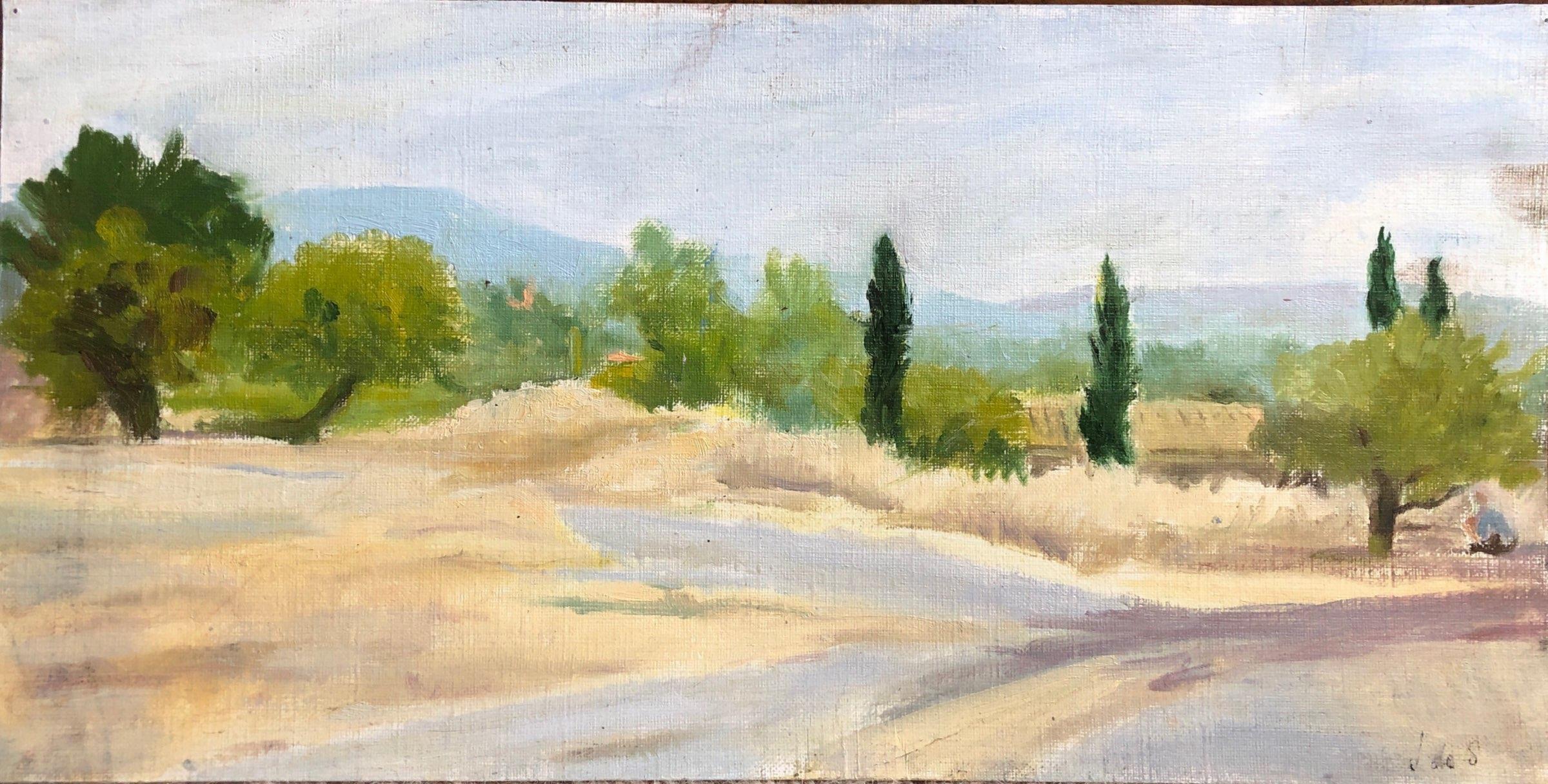 Farmhouse in Provence 33x17 oil