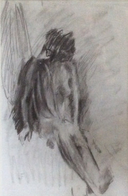 Nude charcoal 39x58
