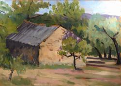 The shepherds hut 35.5x25.5 oil