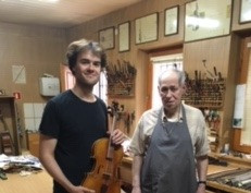 Oscar Holch went to Poland last week to collect our new 'Davison' baroque viola from luthier Jan Paw