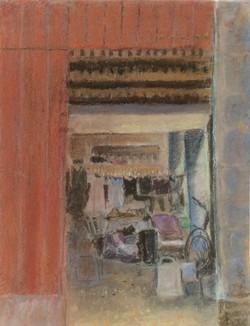 Doorway at Les Bassac pastel 30x38.5