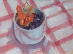 Bowl of grapes oil 35x26