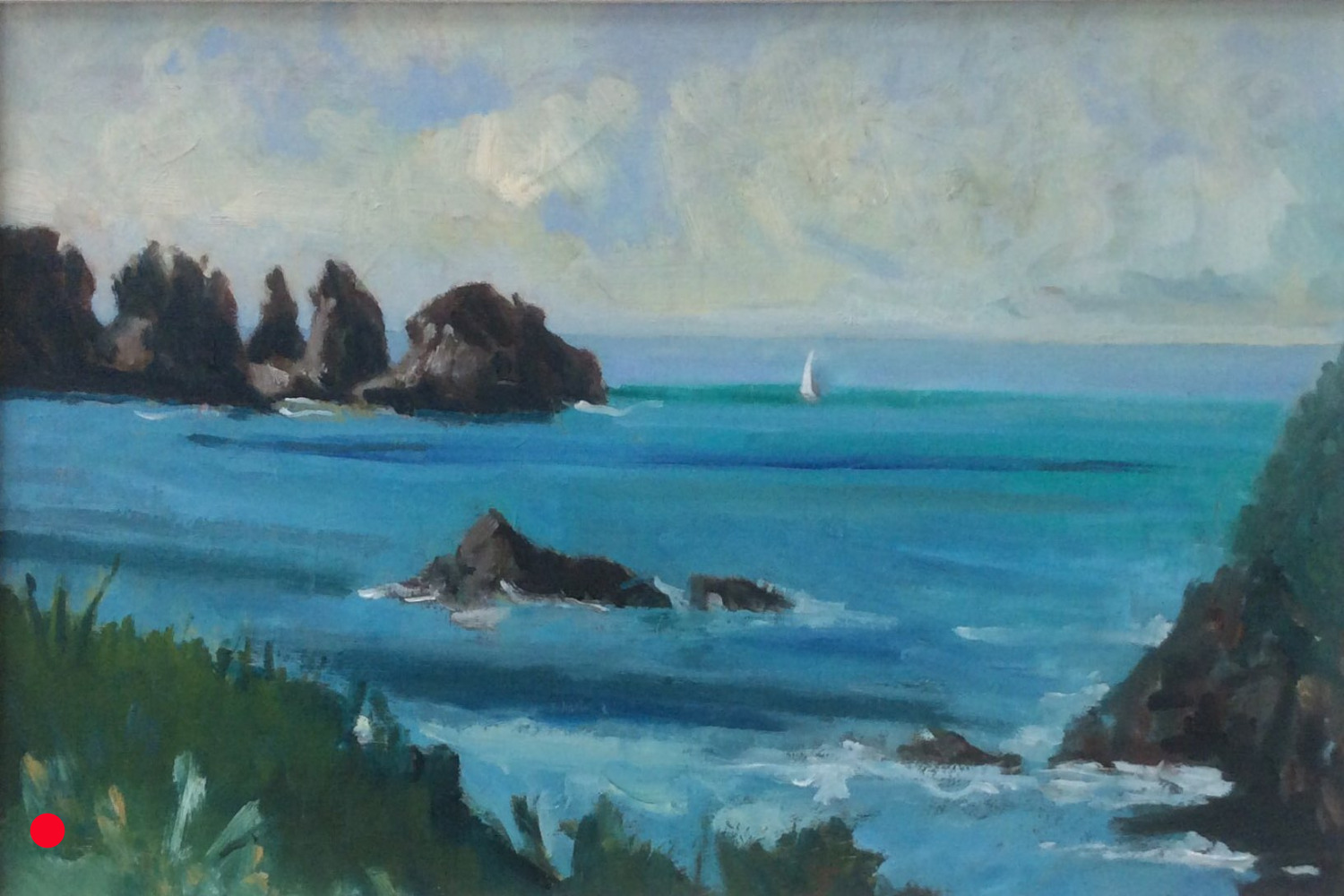The sea stacks oil 38x26 SOLD