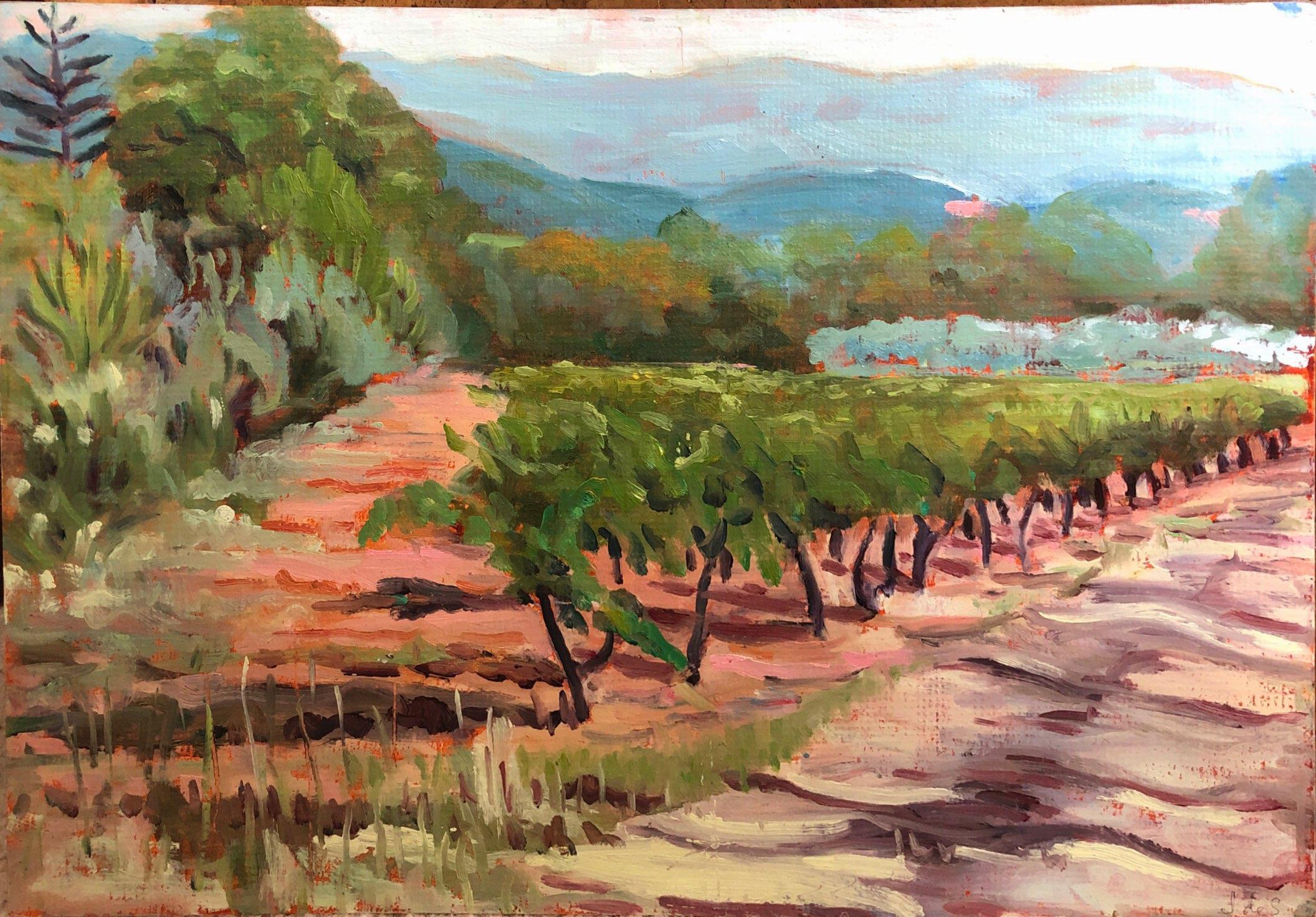 Vineyard in Provence 2 42x30 oil