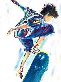Skateboarder 4 acrylic 46x61