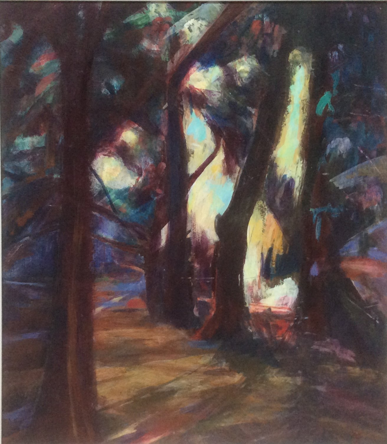 Light in the Forest acrylic 50x57
