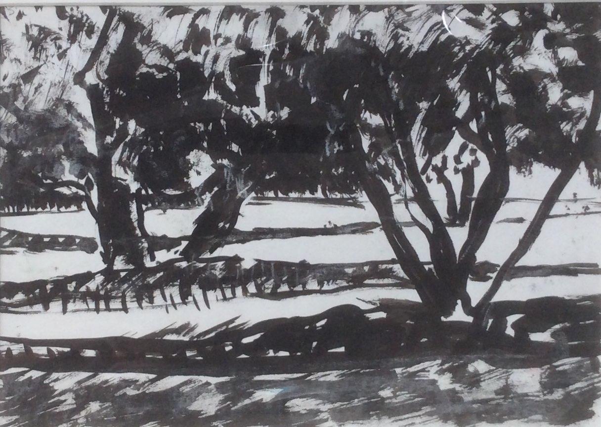Olive trees 30x22