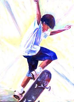 Skateboarder 3 acrylic 46x61