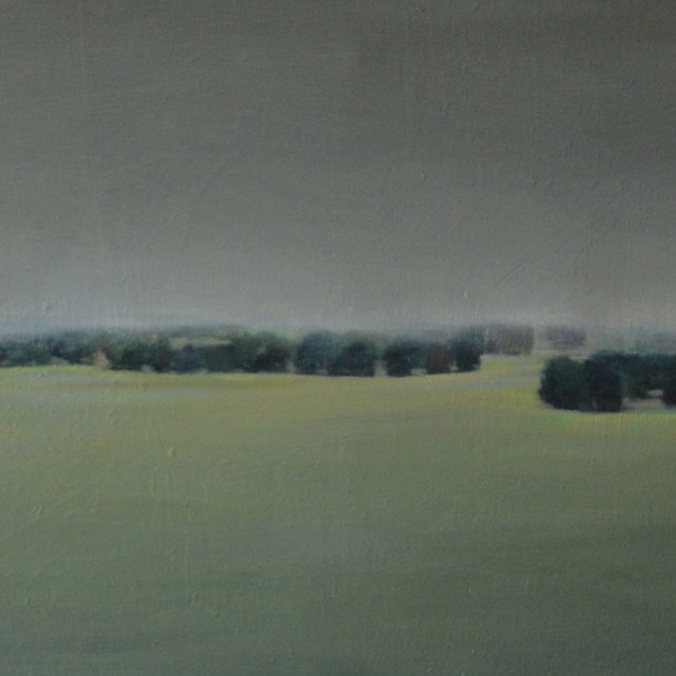 landscape in France, 50x70cm, Oil on canvas, 2014