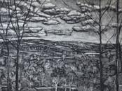 """The magic mountain"", 60 x 120 cm, mixed technique on board, 2017 (Price: 1.100 EUR)"