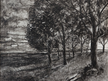 Girl lying in a field  63x53 xm, acrylic
