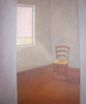 """""""Chair in a room """", 50x70cm, Oil on canvas, 2005"""