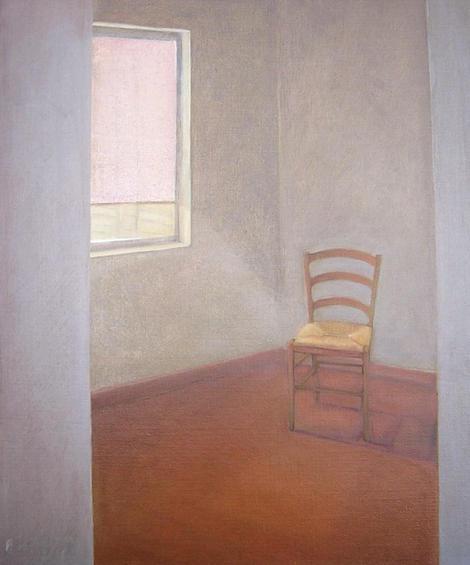 The chair, 60x40cm, 2004, oil canvas