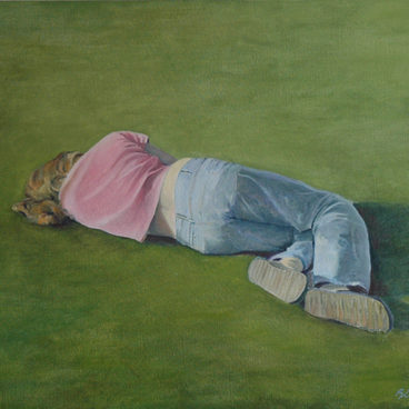 "'On Grass""65x82cm 2015, (private collection)"