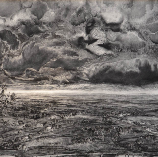 Before the storm , 60x120 cm, mixed media on board