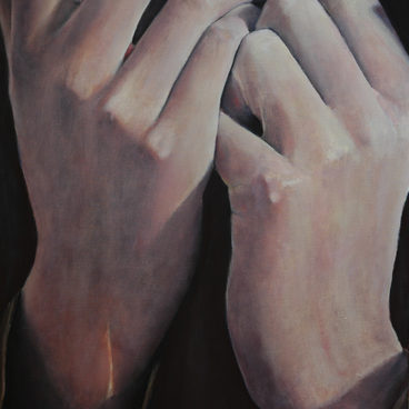"""The hands"" (2010)  50x60cm, oil canvas, (private collection)"