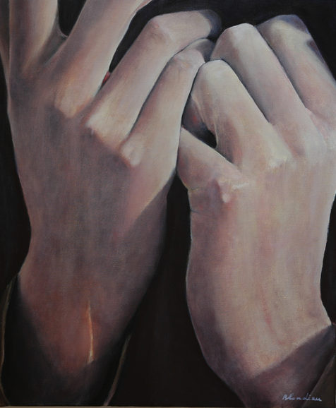 """""""The hands"""" (2010)  50x60cm, oil canvas, (private collection)"""