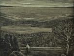 """""""View of Devon"""", oil on board, 50x40 cm, 2018 (Private collection)"""