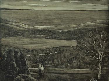 View of Devon, oil on board, 50x40cm, 20