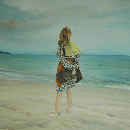 Les Issambres beach, 80x90cm, Oil canvas, 2010