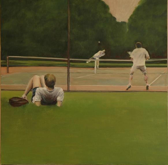Regent's Park, 100x100cm, Oil on canvas, 2006 (private collection)