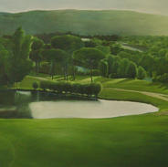 """Evening view"", 110 x 90cm, oil on canvas, 2008"