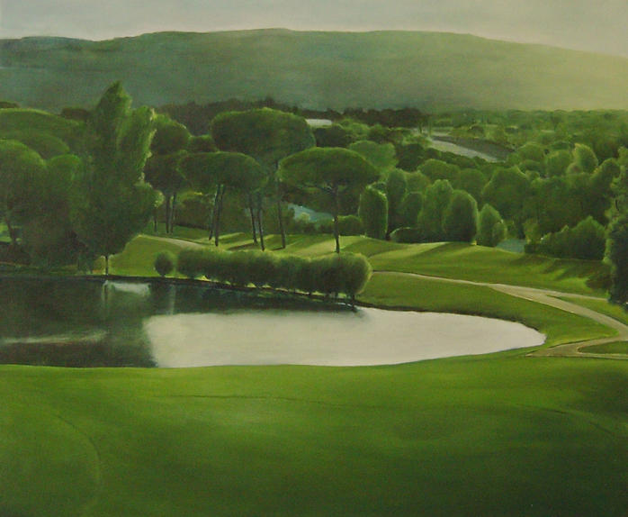 """""""Evening view"""", 110 x 90cm, oil on canvas, 2008"""