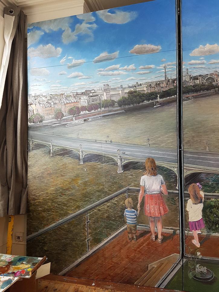 """Inside Outside"" detail, left and central panel"
