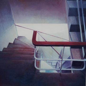 """""""Straircase in Appartment in Porto"""", 70 x 70cm, Oilon canvas, 2002"""
