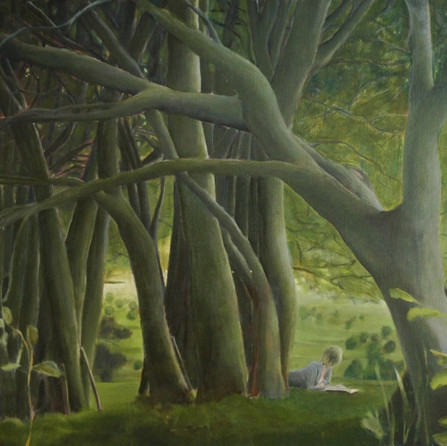 In the woods, 90x110cm, Oil canvas, 2007