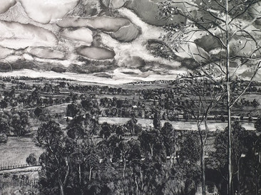 """""""Memory of Lake distric"""", 81x121cm, gouache on board, 2021 (Price upon request)"""