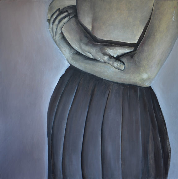 """""""The grey skirt"""" 100x100cm Oil on canvas (2010) (private collection)"""