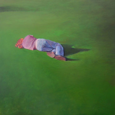 """Figure gras"" 120x120cm, oil on canvas (2008) (Private collection)"