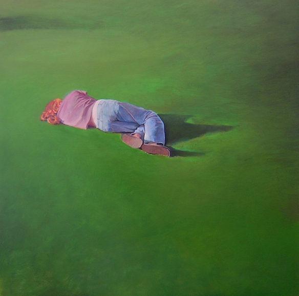 """Figure gras"" 120x120cm, oil on canvas (2008) (Private collection)"