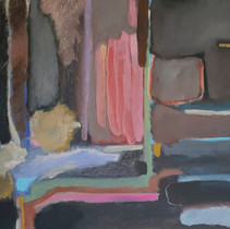 """""""Composition 212 in browns"""", 70 x 90 cm, oil on canvas, 2021 (Price: 1.200 EUR)"""