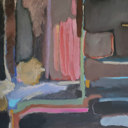"""Composition in browns"", 70 x 90 cm, oil on canvas, 2021 (Price: 1.200 EUR)"