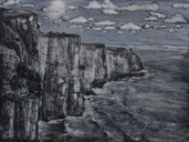The Clifs (Moher, Irland), 40x50cm, oil on board, 2016, (Available EUR 400)