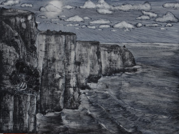 The Clifs in Moher (Irland), 40x50cm, oi