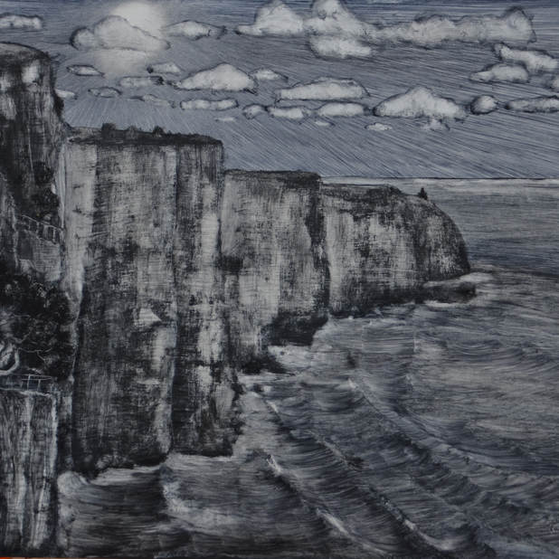 The cliffs,  50x60cm, Oil on Board, 2016